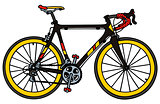 Road racing bicycle