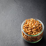 Healthy breakfast Fresh granola, muesli