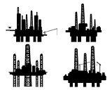 Four oil platforms