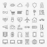 Line Internet of Things Design Icons Big Set