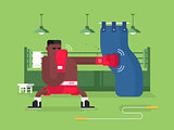 Boxer cartoon character
