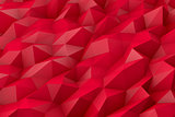 Abstract low poly 3d red color background