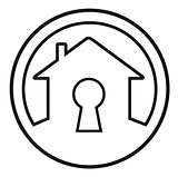 house lock concept symbol
