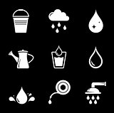 set white watering icons