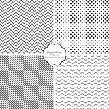 Collection of seamless vector patterns.