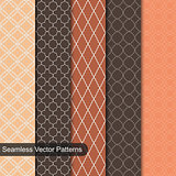 Seamless vector patterns. Ornamental set.