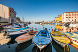 Boats in Port of Piran, Slovenia