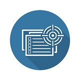 The List of Goals Icon. Flat Design.