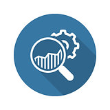 Market Research Icon.  Flat Design.