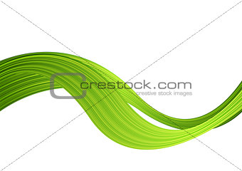 Green striped abstract wave