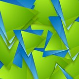 Tech geometric background. Triangles pattern