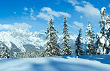 Winter Alp mountain landscape