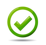 Green check mark symbol