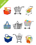 Nine shoping carts