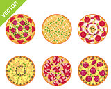 Different pizza set