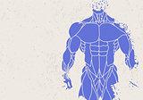 silhouette of a mans torso