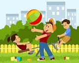 Children playing on playground