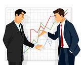 Two businessman dispute