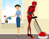 Robot helps girl