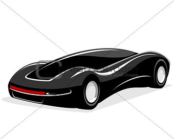 Black futuristic car