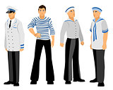 Four sailors set