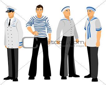Four sailors set
