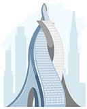 Big futuristic skyscraper