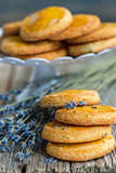 Shortbread cookies with lavender.