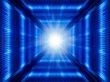 futuristic light in tunnel