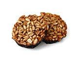 Kozinaki - sunflower seeds with sugar in chocolate