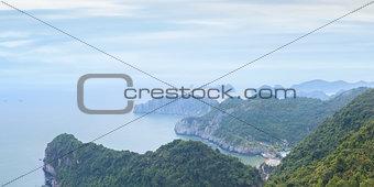 seascape of Halong Bay, Vietnam