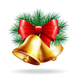 Christmas golden bells