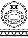 Chain icons, parts, circles of chains.