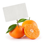 orange with price tag
