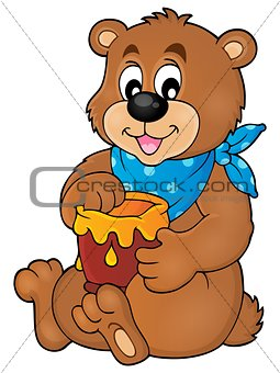 Bear with honey theme image 1