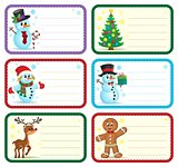 Christmas name tags collection 1