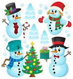Christmas snowmen theme collection 1