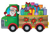 Christmas truck theme image 1