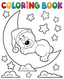 Coloring book sleeping bear theme 2