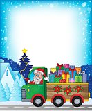 Frame with Christmas truck theme 1