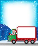 Frame with Christmas van theme 2
