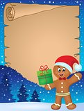 Gingerbread man theme parchment 1