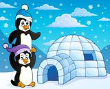 Igloo with penguins theme 3