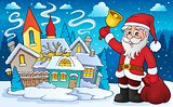 Santa Claus with bell theme image 4