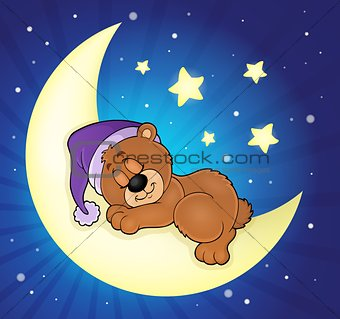 Sleeping bear theme image 5
