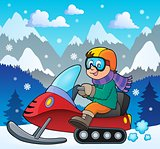 Snowmobile theme image 2