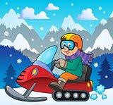 Snowmobile theme image 2