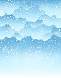 Winter sky theme background 2