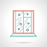Flat color line window vector icon