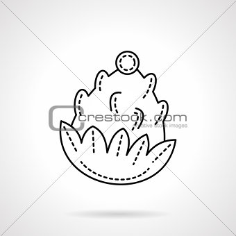 Flat line style pine cone vector icon